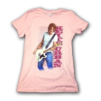 Ladies Pink Guitar Tshirt