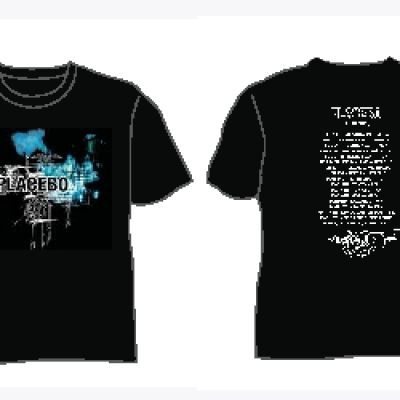 Scribble Black Tshirt with Dates