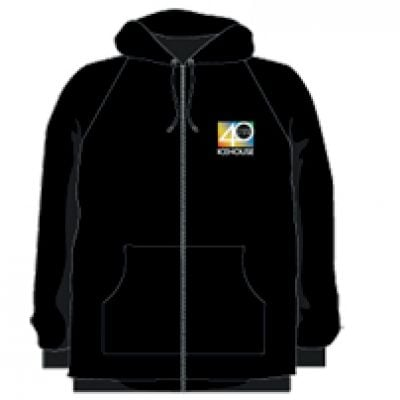 Pocket 40 Years Live Black Zip Hoody