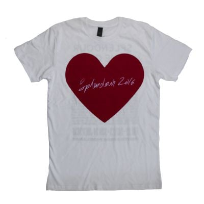 Heart White Tshirt
