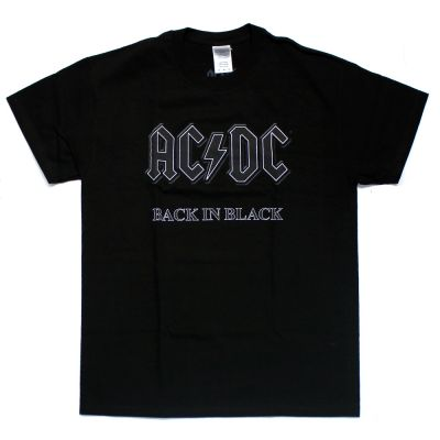 Back In Black Black Tshirt