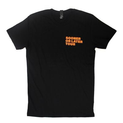 Sooner Or Later Tour Black Tshirt