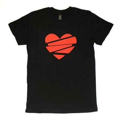Heart Lines Black Tshirt