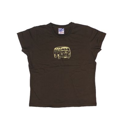 Brown Combi Ladies Tee