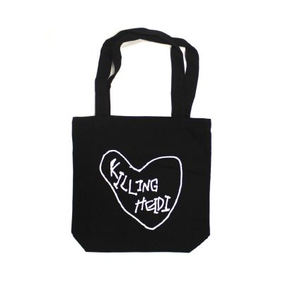 Kidney Heart Black Tote Bag
