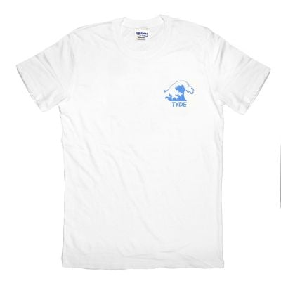 Blue Wave White Tshirt