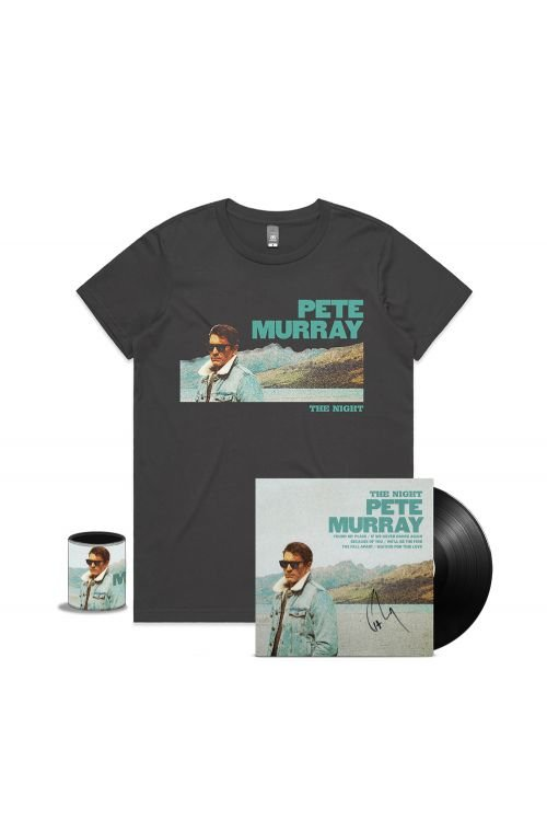 THE NIGHT LP SIGNED (VINYL) + LADIES CHARCOAL TEE + STUBBY by Pete Murray