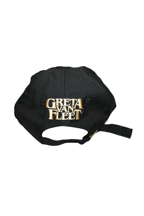 Dad Cap (Black) Emroidered Rose by Greta Van Fleet