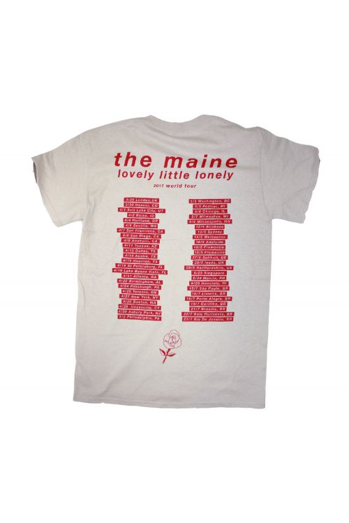 Lovely Little Lonely World Tour 2017 Grey Tshirt by The Maine