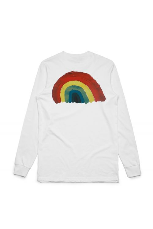 Rainbow Longsleeve White Tshirt by Matt Corby