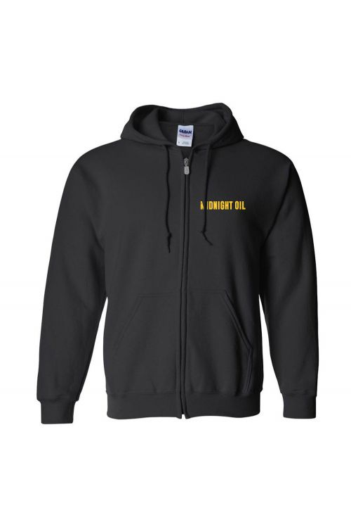 Hand Print Black Hoodie by Midnight Oil