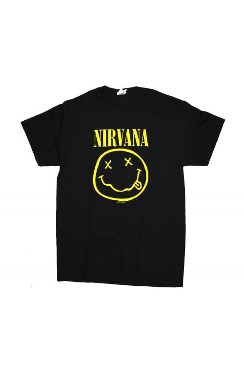 Smile Black Tshirt by Nirvana