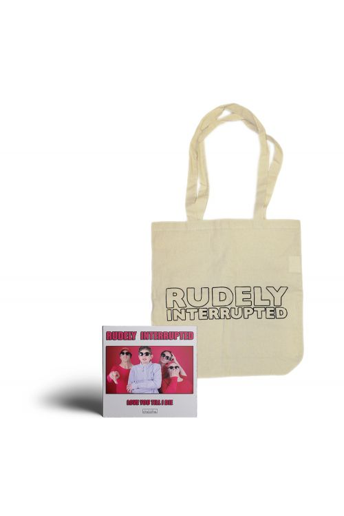 'Love You Till I Die' CD and Logo Natural Color Tote Bag Pack by Rudely Interrupted