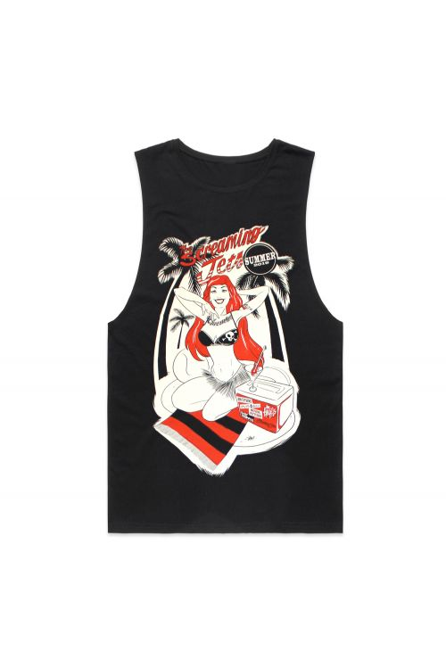 Pinup/Red Hot Summer 2019 Black Tank by The Screaming Jets
