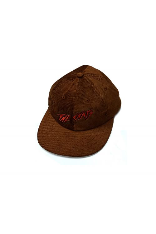 Chats Red Logo Brown Cordoroy Hat by The Chats