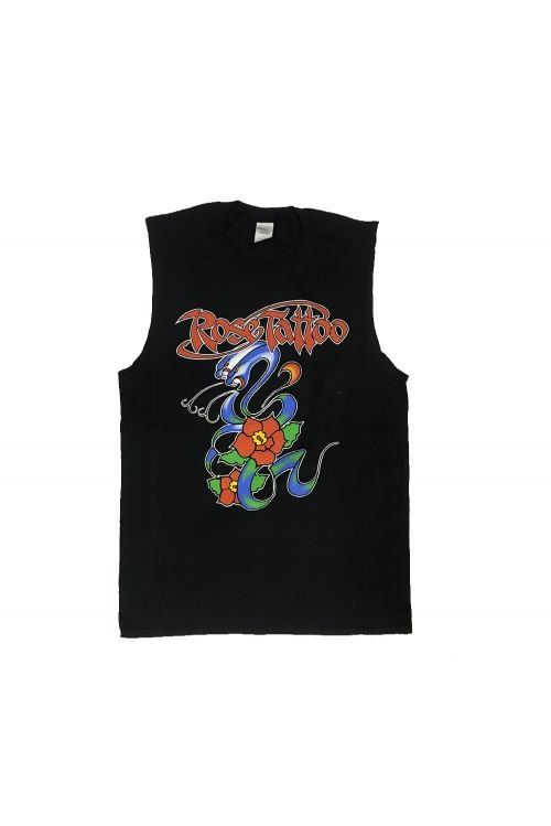 Snakes 2017 Tour Black Tank (Sleeveless Tee) by Rose Tattoo