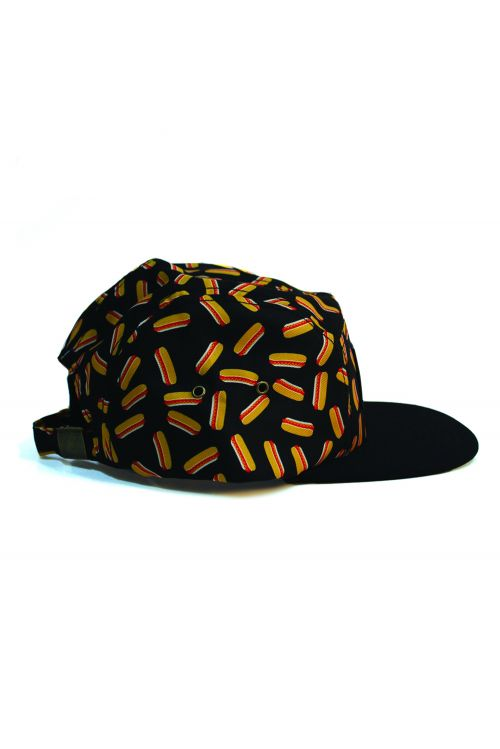 Hotdog 5 Panel Cap w/leather patch by Splendour In The Grass