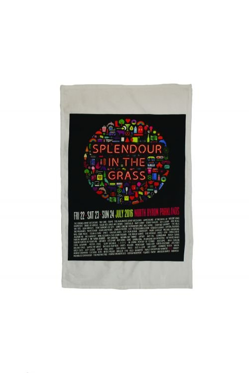 Icons Tea Towel by Splendour In The Grass