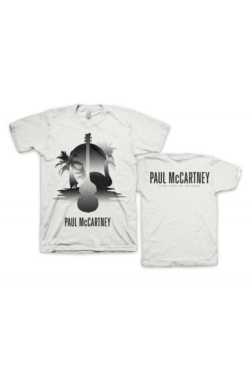 Perth Stencil White Tshirt One On One World Tour by Paul McCartney
