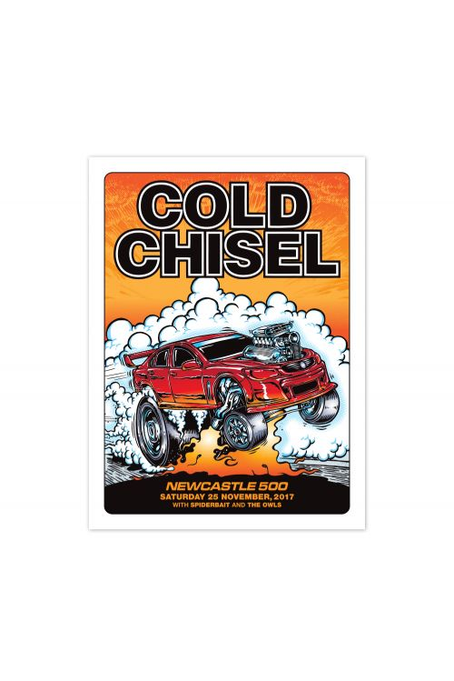 Newcastle 500 Event Lithograph Poster (25th November 2017) by Cold Chisel