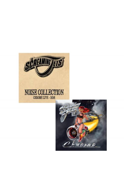 Chrome CD/Noise Collection EP Combo Pack by The Screaming Jets