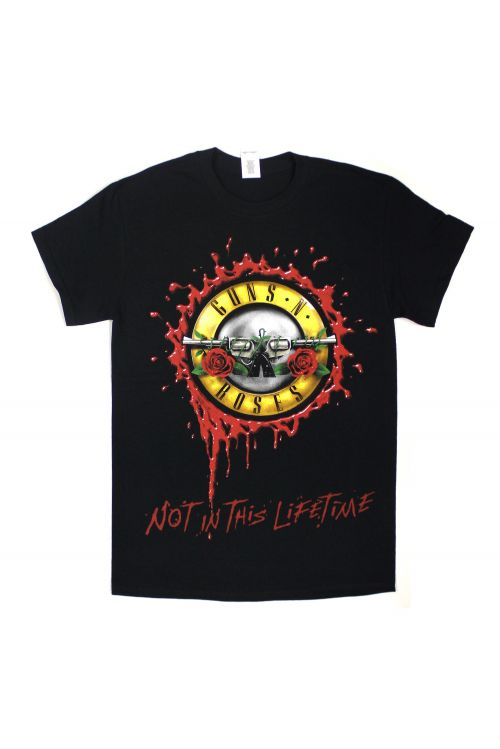 Bullet Seal Not In This Lifetime Black Tour Tshirt by Guns N Roses
