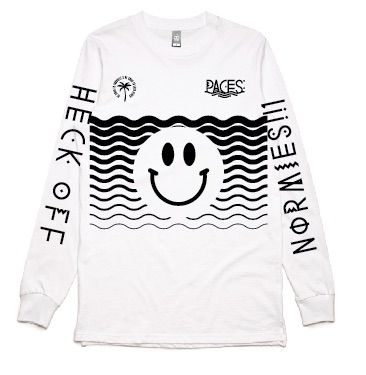 Heck Off White Longsleeve Tshirt by Paces
