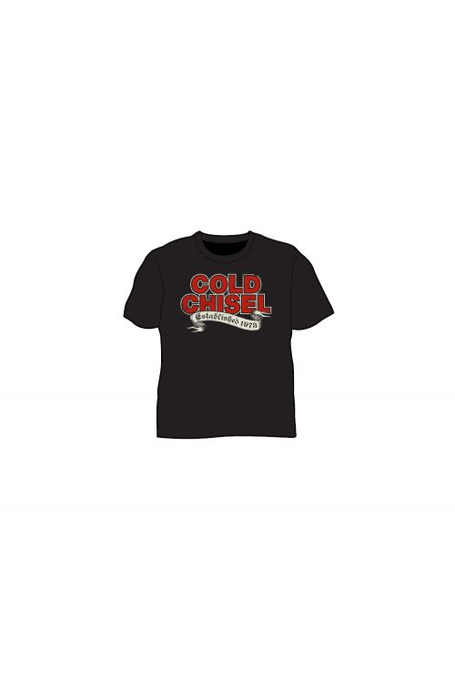 Established 1973 Black Kids Tshirt by Cold Chisel