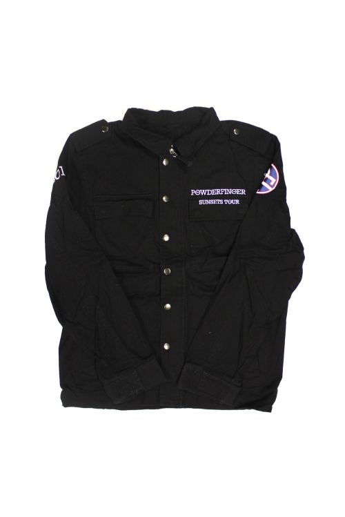 Sunset Tour Army Black Jacket by Powderfinger