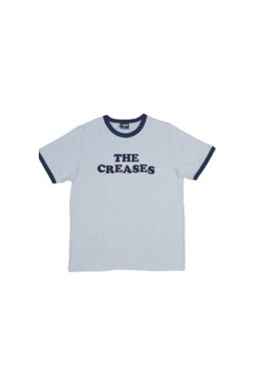 Logo Grey/Navy Ringer Tee by The Creases