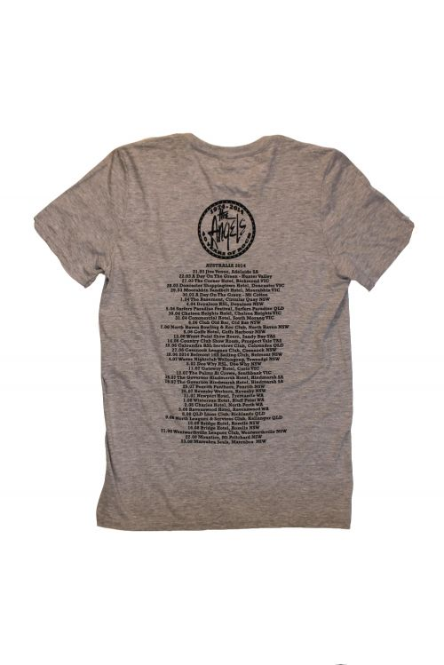40th Anniversary Grey Tshirt w/dates by The Angels