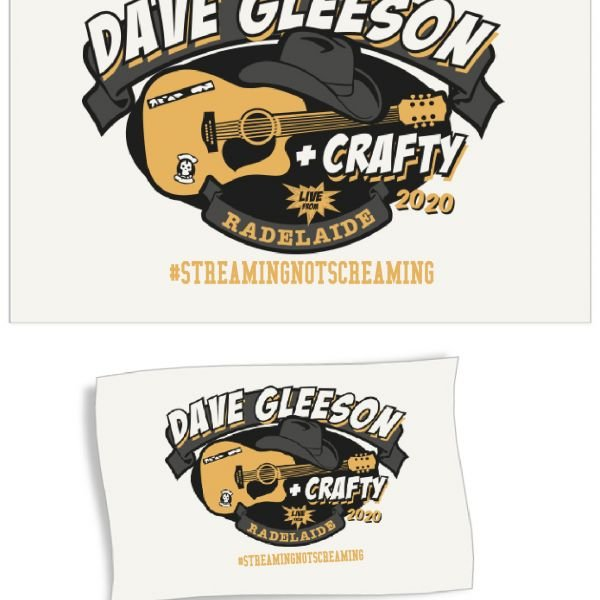 Dave Gleeson Streaming Not Screaming Tea Towel