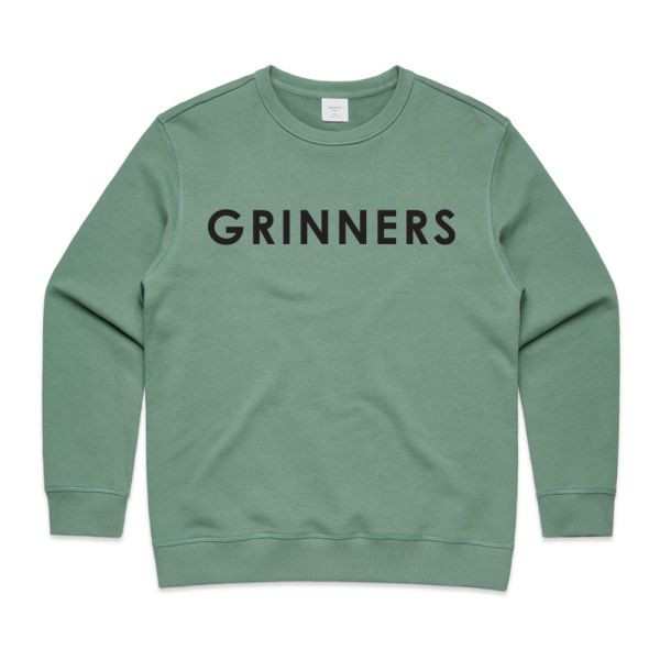 DR. GRINNERS LOGO WOMENS SAGE SWEATSHIRT