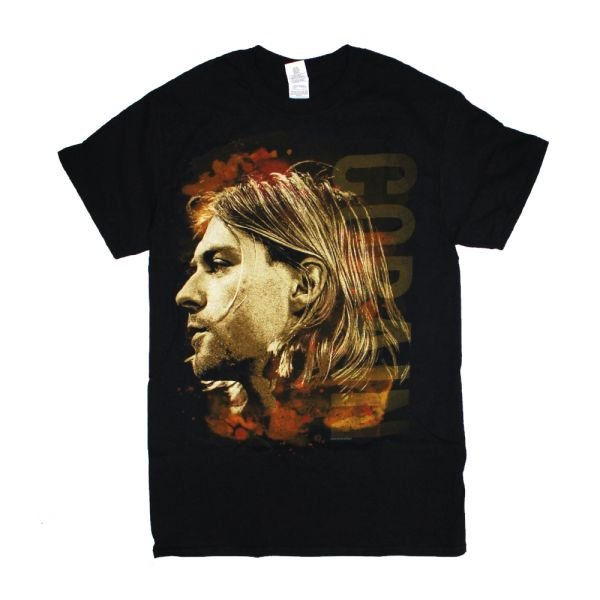 Kurt Cobain Side View Color Black Tshirt