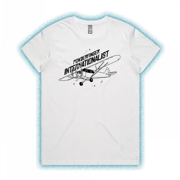 Internationalist White Ladies Tshirt