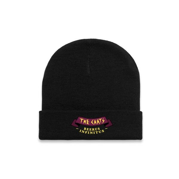 Beerus Embroidery Black Cuff Beanie