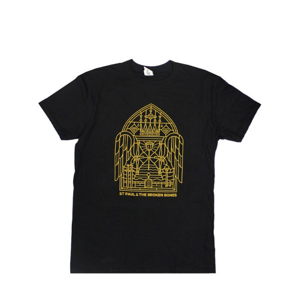 Stained Glass Black Tshirt