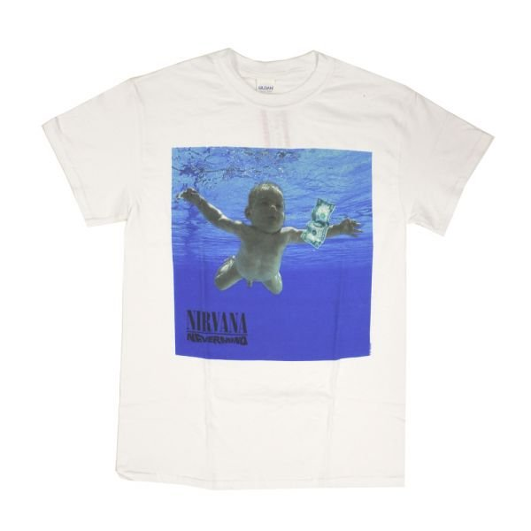 Nevermind White Tshirt w/back print