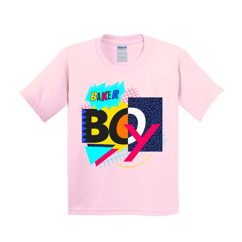 Light Pink 90's Mash Up Kids Tshirt