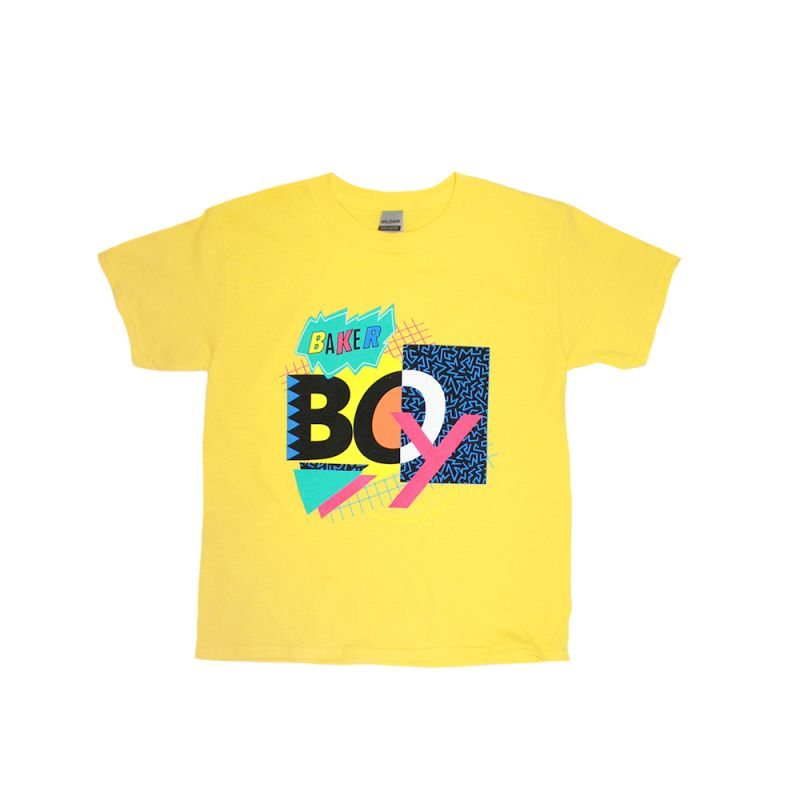 90's Mash Up Yellow Kids Tee