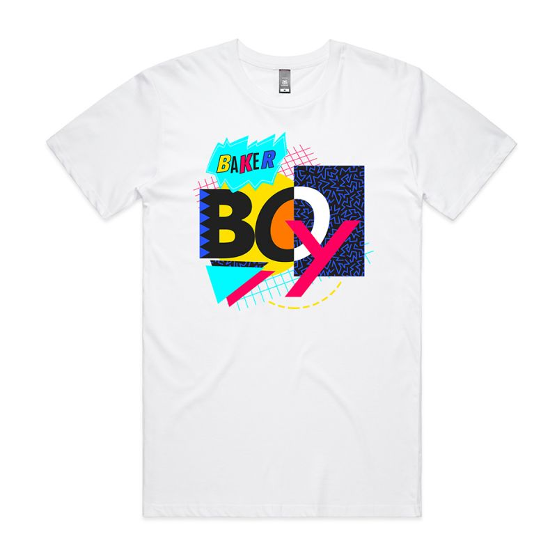 90's Mash Up White Tshirt