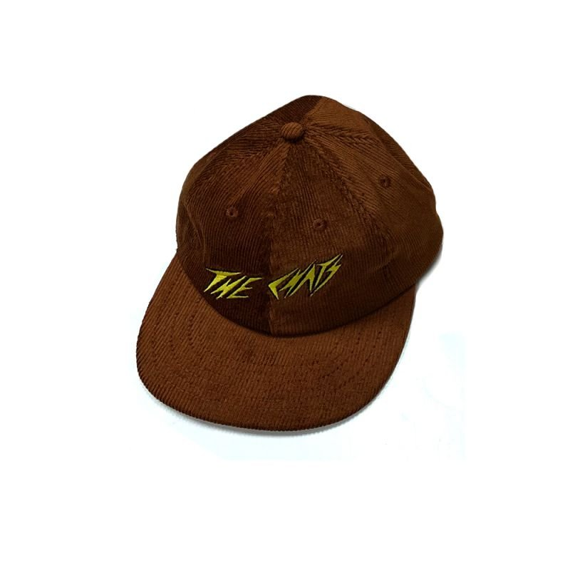 Chats Yellow Logo Brown Cordoroy Hat