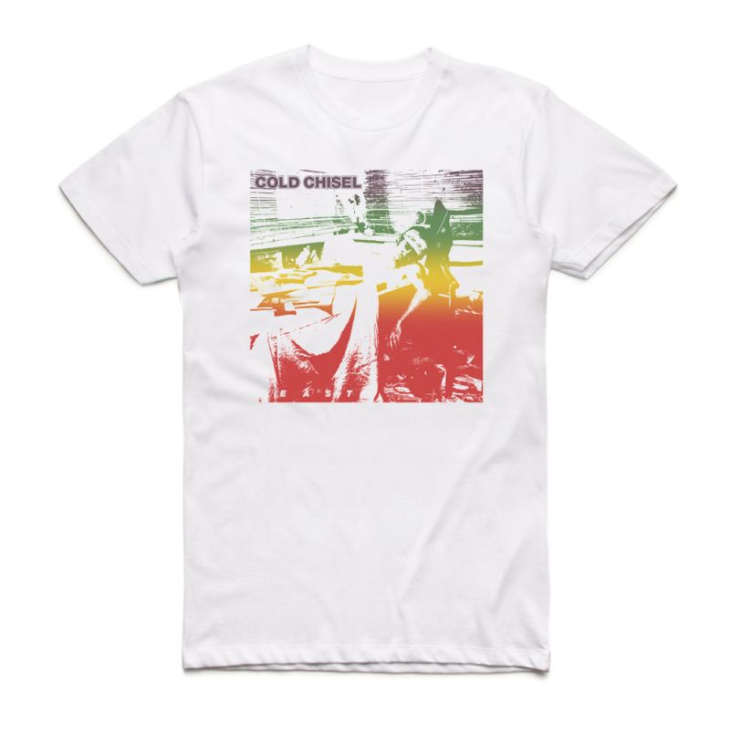 """East 40th Anniversary Range"" Label Faded White Tshirt"