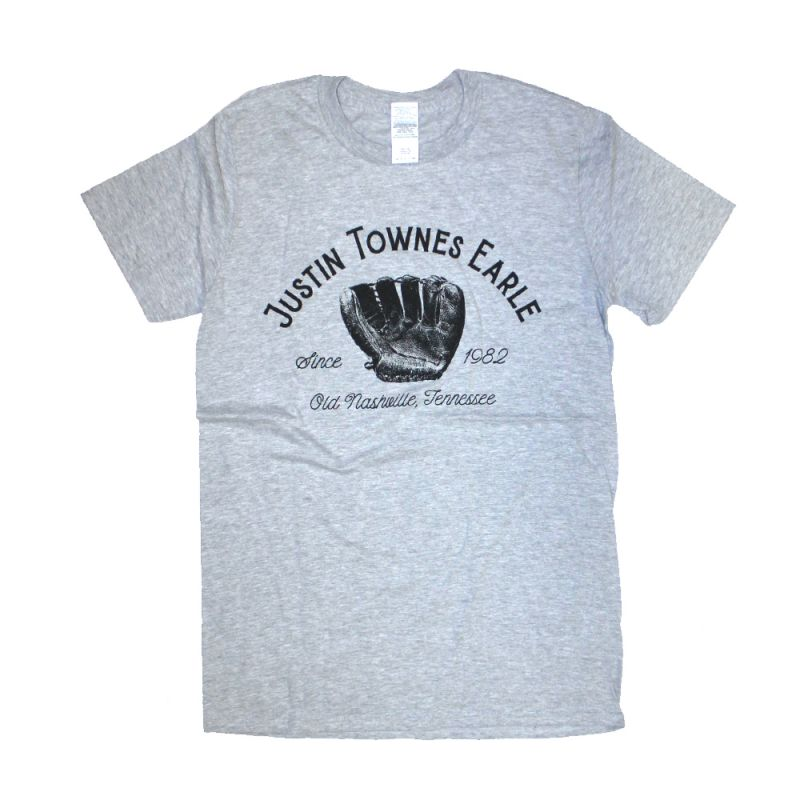 Baseball Glove Grey Tee