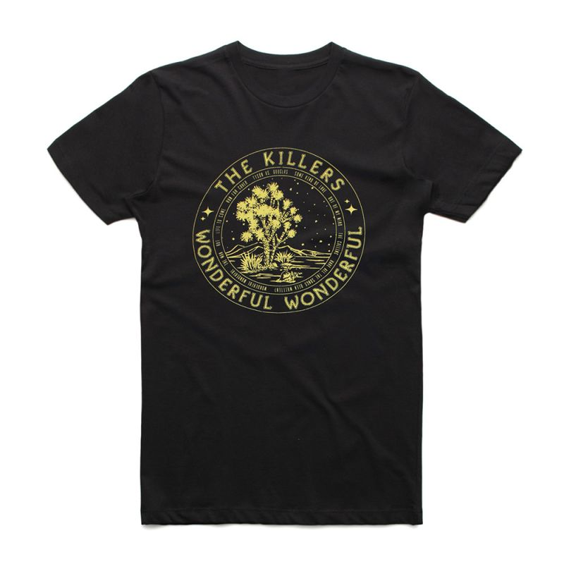 Circle Tour Black Tshirt w/dateback