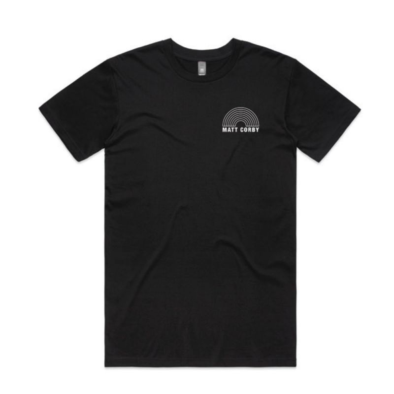 Rainbow Logo Black T Shirt