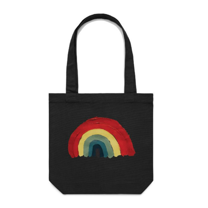 Rainbow Tote Bag Black