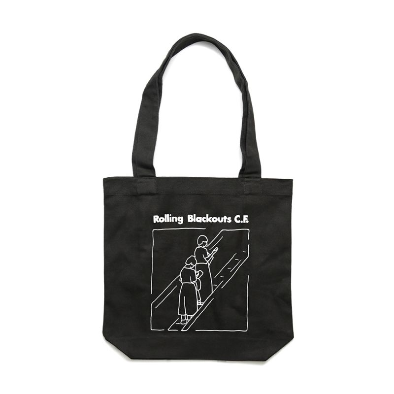 Escalator Girl Tote Bag Black