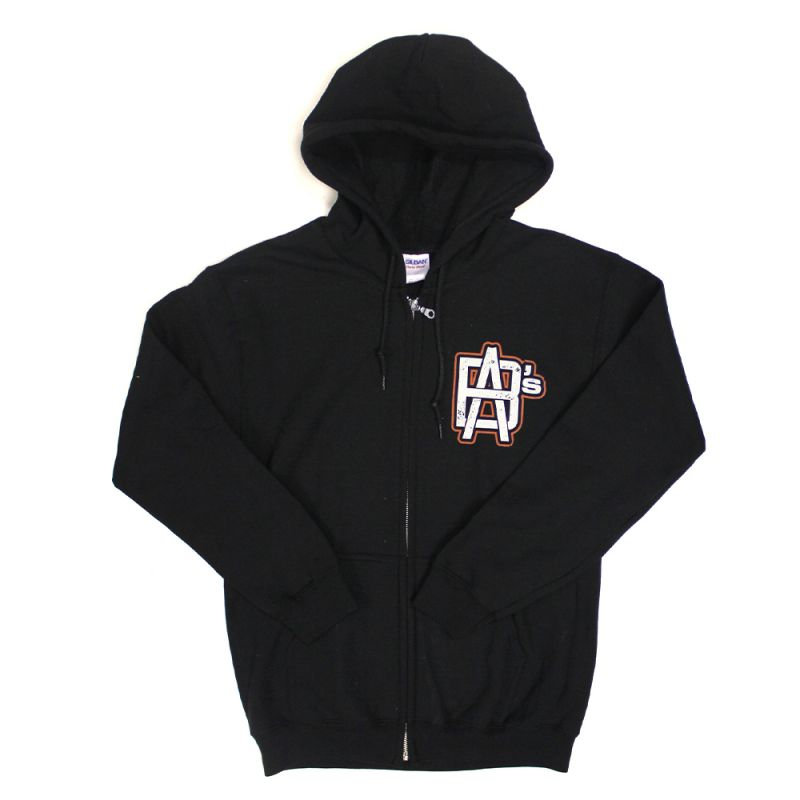 College Script Black Zip Up Hoody