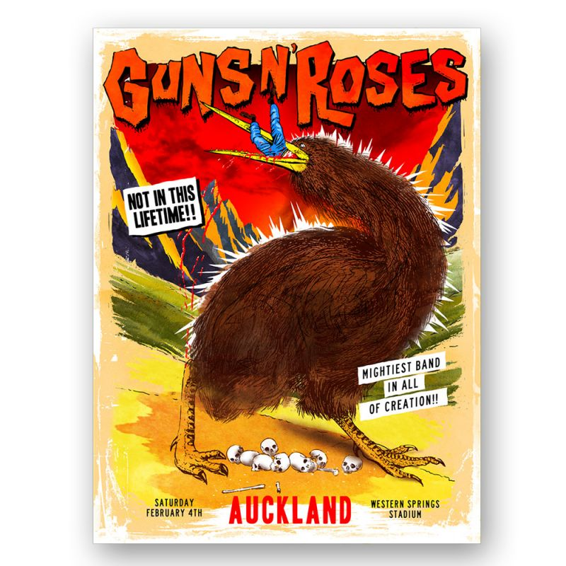 Auckland/NZ - 4th Feb Lithograph Kiwi (Limited)